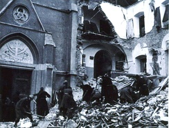 Ruins after the bombing of Zagreb in 1944
