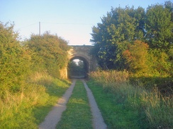 Part of the former Chippenham and Calne line, now a cycleway