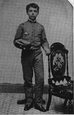 Young Baum in the Peekskill Military Academy