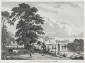 Chepstow bridge by Paul Sandby, b&w aquatint 1786