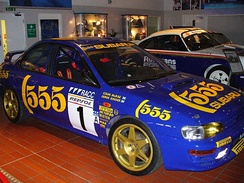 One of the Subaru Impreza rally cars that McRae drove during the 1996 World Rally Championship season.