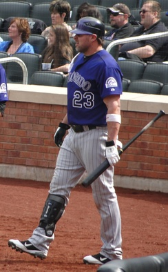 Giambi with the Colorado Rockies in 2011