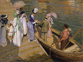 E Phillips Fox, The Ferry, 1910