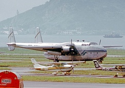 C-82A Packet freighter of Cruzeiro (Brasil) at Santos Dumont Airport, Rio de Janeiro, in May 1972