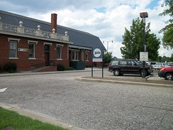 The historic Fayetteville Amtrak station
