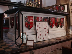 Chest tomb of George Clifford in Holy Trinity Church, Skipton