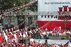Cameron is in favour of self-determination for Gibraltarians, 10 September 2013