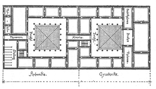 Plan of a Greek house by Vitruvius