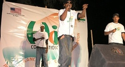 The Black Daps perform in Niamey, January 2009.