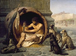Diogenes of Sinope advocated anarchistic forms of society.