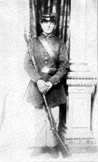 Twenty-year-old German immigrant John Haag of Company B, 26th Wisconsin Volunteer Infantry Regiment (August 1862)[12]