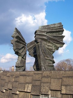 Silesian Insurgents Monument in Katowice. The largest and heaviest monument in Poland, constructed in 1967.