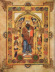 Illuminated page from Book of Kells