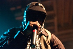 Kool Keith performing at Mezzanine in San Francisco, California during the 2009 Noise Pop Festival.