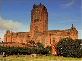 Liverpool Cathedral, whose construction ran from 1903 to 1978
