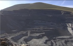 Open-cast slate quarry in the province of León.