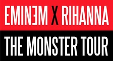 A logo for The Monster Tour, 2014