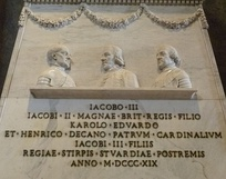 Detail of the monument in the Vatican
