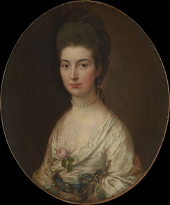 Alice De Lancey Izard, portrait by Thomas Gainsborough