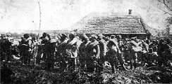 Russian prisoners of war after the battle