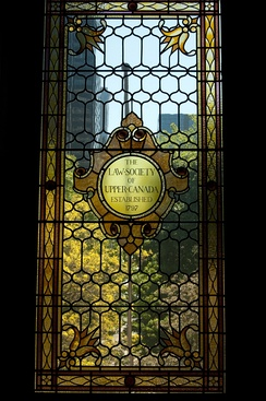 Osgoode Hall stained glass window