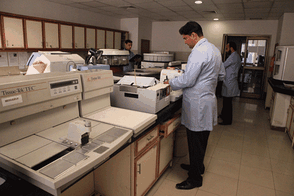 A modern pathology lab at the Services Institute of Medical Sciences