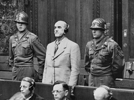 Oswald Pohl receives his sentence of death by hanging.