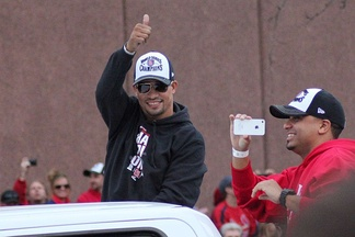 Furcal during the 2011 World Series Parade
