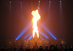 Rammstein are known for their frequent use of pyrotechnics during live performances.