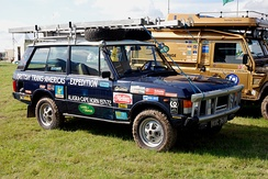 1971 Range Rover that was used in the three-month, 18,000-mile Trans-American Expedition—a standard production vehicle fitted with only a few speciality off-road items.