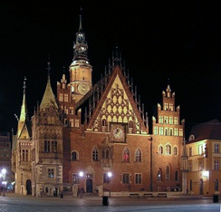 13th-century Old Town Hall in Wrocław, Poland