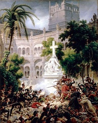 Assault of the French army at Santa Engracia Monastery on 8 February 1809 during the Peninsular War. Oil on canvas, 1827