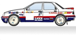 1992 Mobil 1 livery as used on the Monte Carlo Rally