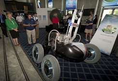 Scarab lunar rover is being developed by the RI.