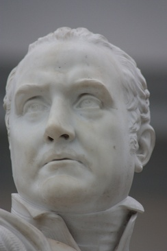 Sir Edward Pellew by Patrick MacDowell, 1846, Greenwich Maritime Museum, London (close-up)