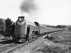 The Spirit of Progress headed by S301 Sir Thomas Mitchell near Kilmore East in 1938