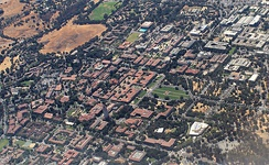 Aerial View of Stanford Campus, 2018