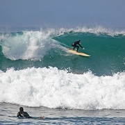 A day of big surf in La Jolla, California