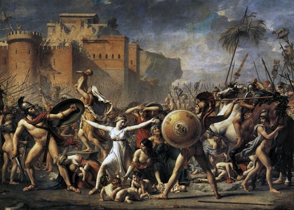 The Intervention of the Sabine Women by Jacques-Louis David (1799), Louvre