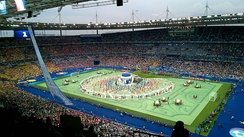 The UEFA Euro 2016 opening ceremony before Guetta's set