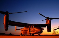 AFSOC's first CV-22B Osprey at sunset, Hurlburt Field, Florida