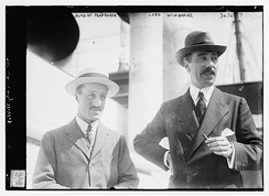 The Duke of Peñaranda and Lord Wimborne on 4 June 1914 in New York City for the 1914 Westchester Cup