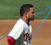 Freddy Galvis looks off to the right