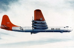 Consolidated B-36B-1-CF Peacemaker, AF Ser. No. 44-92033, in flight