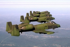 A-10As 118th FS Connecticut ANG in flight