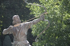 Statue of Arash the Archer at the Sa'dabad Complex in Tehran