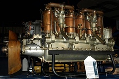 Beardmore 120 hp on display at the London Science Museum