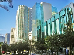 Downtown is South Florida's main hub for finance, commerce and international business. Brickell Avenue has the largest concentration of international banks in the U.S.