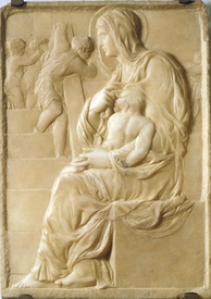 The Madonna of the Stairs (1490–1492), Michelangelo's earliest known work in marble