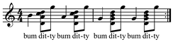 Clawhammer bum-ditty. Play (help·info)